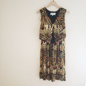 Vintage Boho Two Peice Vest/Skirt Outfit
